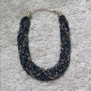 Jewelry - Blue and gold beaded necklace